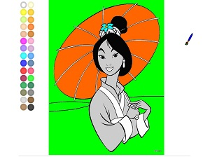 Mulan - kolorowanki